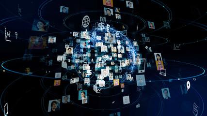 グローバルネットワーク Wall mural