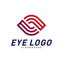 Eye logo design concept vector, eye logo template, icon symbol