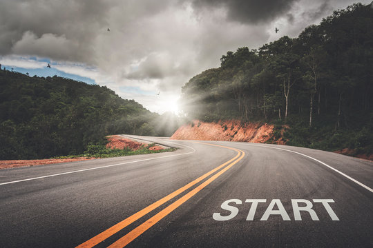 START point on the road of business or your life success. The beginning to victory.