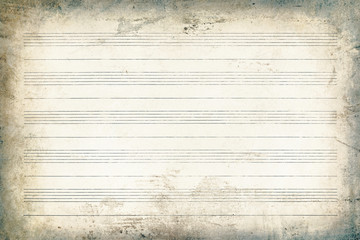 Sheet music without notes, background texture.