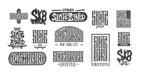 Skateboarding typography t-shirt design. Urban freestyle skating.