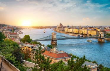 Canvas Prints Budapest landmarks of Budapest