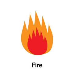 Fire in cartoon style, marine card for kid, preschool activity for children, vector