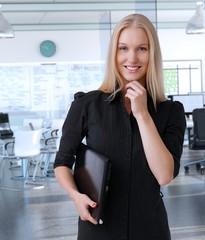 Young scandinavian businesswoman at office