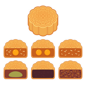 Mooncakes with different fillings