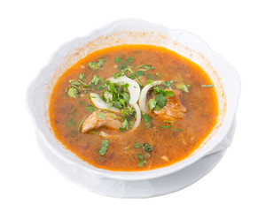 Georgian kharcho beef soup.