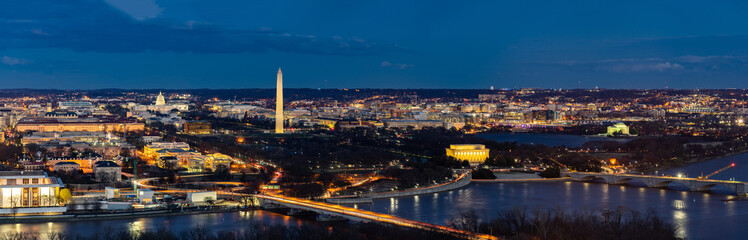 Washington DC Aerial panorama
