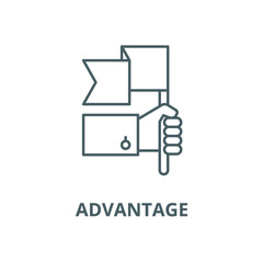 Advantage vector line icon, linear concept, outline sign, symbol