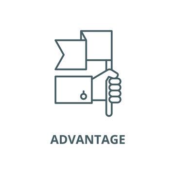 Advantage vector line icon, linear concept, outline sign, symbol