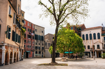 Main square The Venetian Ghetto or Campo del Ghetto Nuovo, Venice, Italy Wall mural