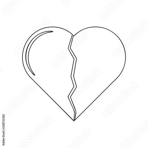 Broken heart icon  Element of Love for mobile concept and web apps