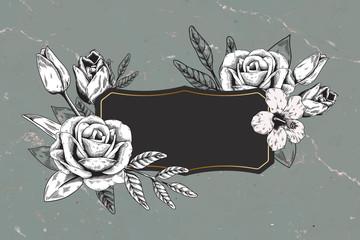 Rose decorated badge