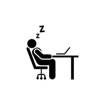 Sleep, tired, office, businessman icon. Element of businessman icon. Premium quality graphic design icon. Signs and symbols collection icon for websites, web design, mobile app