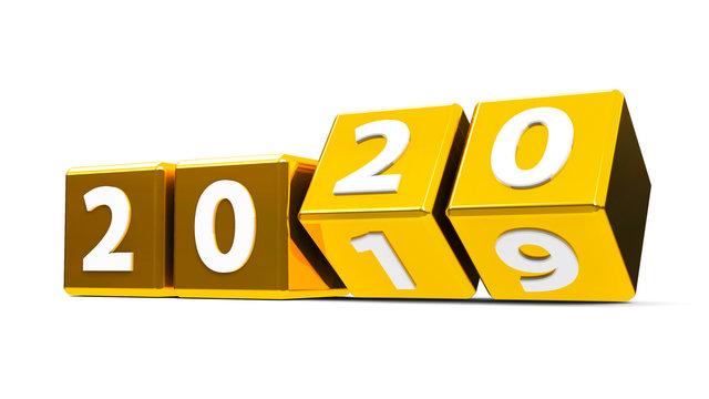 Gold cubes 2020