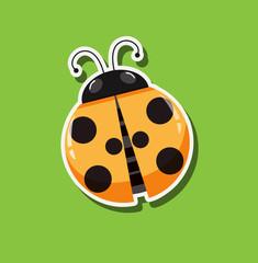 A ladybug sticker template