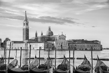 Fototapete - Gondola floating in Grand Canal, Venice, Italy