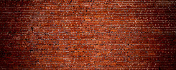 Printed roller blinds Brick wall Wide Angle Vintage Red Brick Wall Background