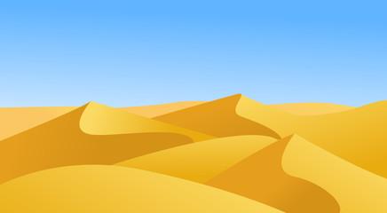 landscape with desert vector illustration