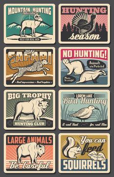 Animals hunting or poaching season, hunter club