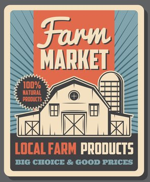 Farm market, organic local farmer eco products