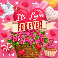 Eternal love, save the date desserts and flowers