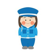 女性キャラクター警備員