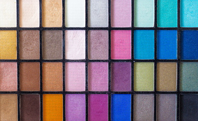 Make up color pallet with nice details over the various colors.