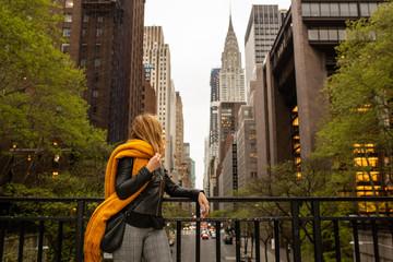 woman isolate in tudor st new york