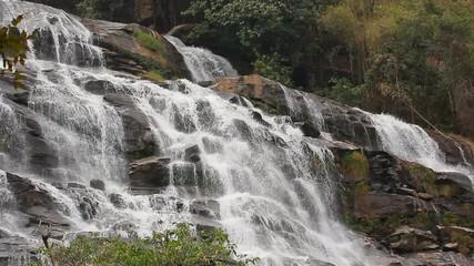 Wall Mural - Mae Ya waterfall at Doi Inthanon in Chiang Mai the north of Thailand., Lockdown.