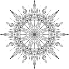 Symmetrical circular pattern in Gothic style
