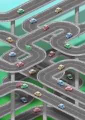 Traffic jam • Car navigation — Portrait orientation