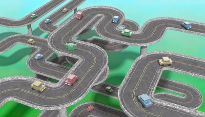 Traffic jam • Car navigation — Landscape orientation