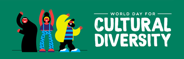 Wall Mural - Cultural Diversity banner of diverse people group
