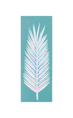 Wall Mural - Paper palm leaf on withe background