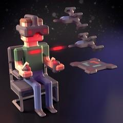 Virtual Reality gamer • VR games