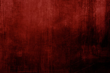 Red stained grungy background or texture Wall mural