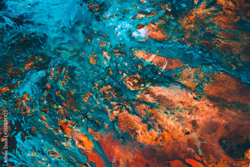 Abstract Blue Red Paint Background Rough Uneven Color Mix