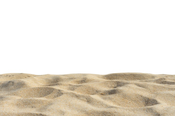 Wall Mural - Close up Of Sand Texture On The Beach Sea In The Summer Sun. With  Isolated Clipping Path On White Screen.