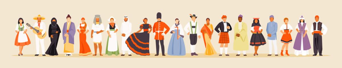 Different nationalities vector