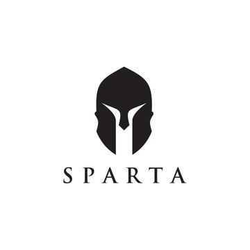Spartan helmet warrior icon logo inspiration