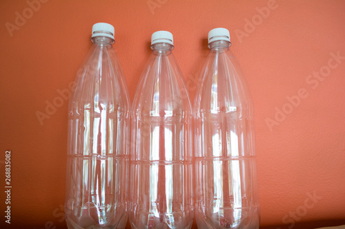 Plastic bottles PET, reuse, recycle and stop pollution
