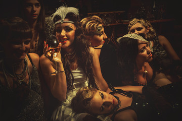 Women have fun on bachelorette party