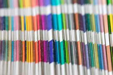 Sampler of pantone colors.