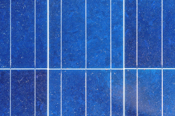 Renewable energy,Blue  background of solar panels.