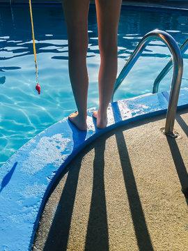 Lifeguard at Swimming Pool