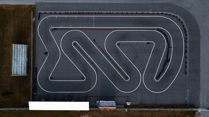 Karting aerial view