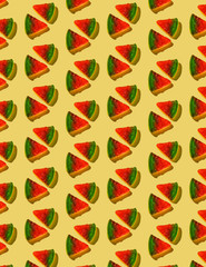 Gummy Pizza Pattern on Yellow