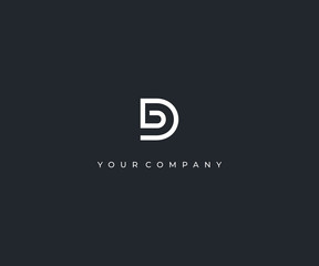 Obraz DB D B letter minimalist logo design template - fototapety do salonu