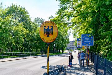 Grenzübergang von  Polen nach Deutschland