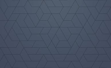 Fotobehang - Modern Pattern Geometric, techie hexagonal based texture